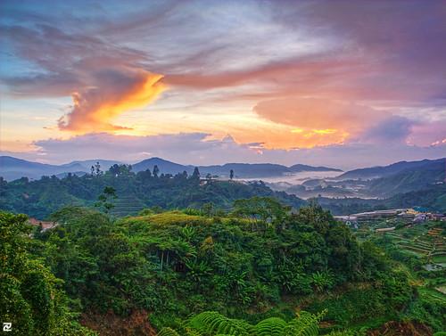 morning sunrise dawn malaysia colourful hdr pahang topaz brinchang cameronhighland photomatix digitalblending 3frames platinumheartaward musictomyeyeslevel1