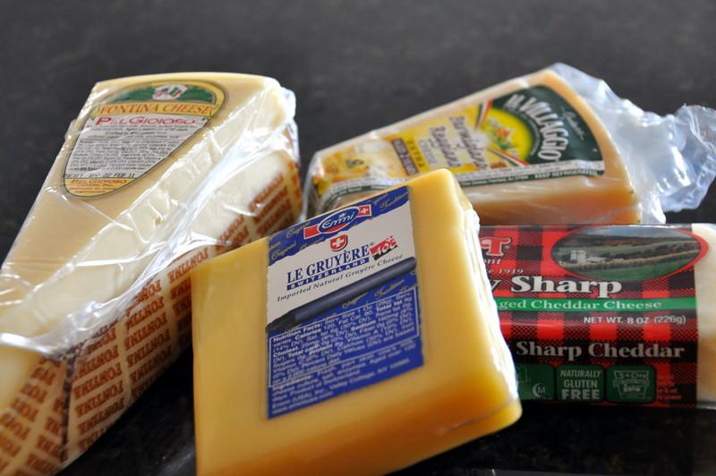 Gruyere, Fontina, Sharp Cheddar, & Parmigiano-Reggiano