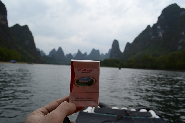 Yangshuo's karst mountains