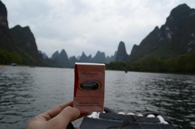 Yangshuo's karst mountains