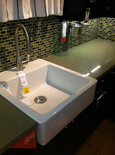 cjinteriors posted a photo:	I love this modern version of a farmhouse sink and it's a fraction of the cost of most at only $179