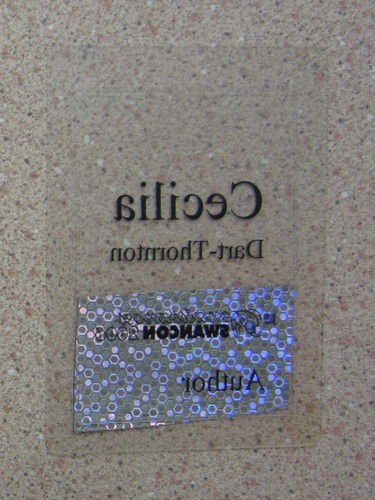 Swancon 2006 guest badge converse