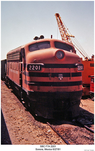 railroad sonora train mexico diesel railway trains locomotive trainengine sbc coveredwagon f7 emd funit f7a aunit fouraxle sonorabajacalifornia cabunit