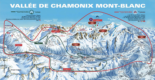 Chamonix-Mont Blanc - mapa sjezdovek