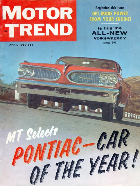 april 1959 motor trend magazine cover with pontiac bonneville flickr photo sharing. Black Bedroom Furniture Sets. Home Design Ideas