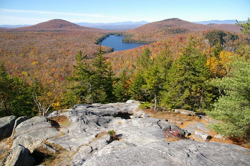 usa lake mountains vermont view newengland fallfoliage ledge owlshead route232 grotonstateforest