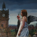 The Watch tower, 46x35cm, Framed, Oil on canvas