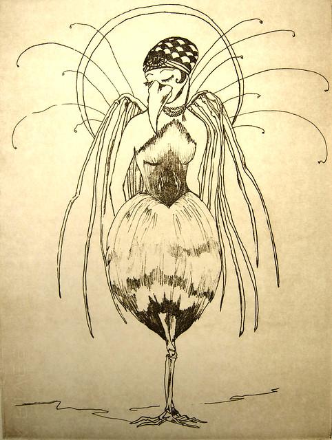bird lady print