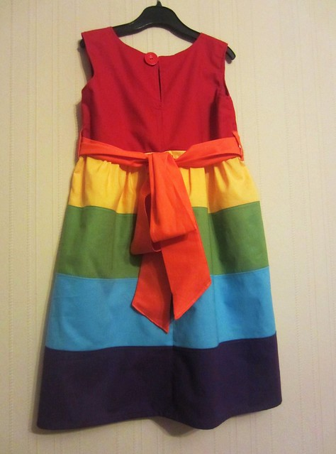 rainbow dress back