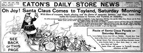 Vintage Ad #1,753: Oh Joy! Santa Claus Comes to Toyland