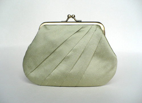 Dupion silk coin purse