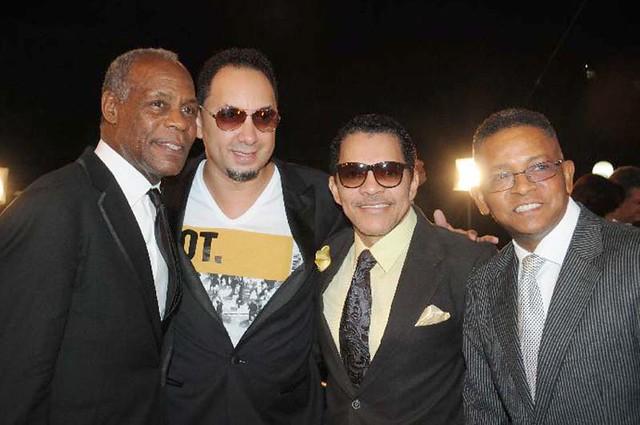 Danny Glover con Rafa Rosario y Albert Xavier