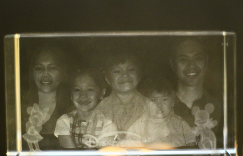 laser engraved photo souvenir