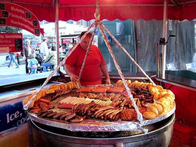Huge Bratwurst Grill