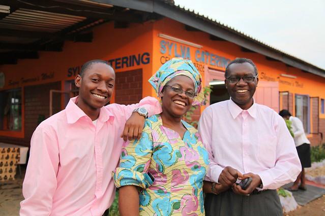 Sylvia Banda and members of her team