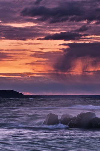 sunset ontario storm rain weather clouds twilight waves wind harbour spray greatlakes whitefishbay lakesuperior breakwater northernontario seacape stmarysriver groscap princetownship gnd3r