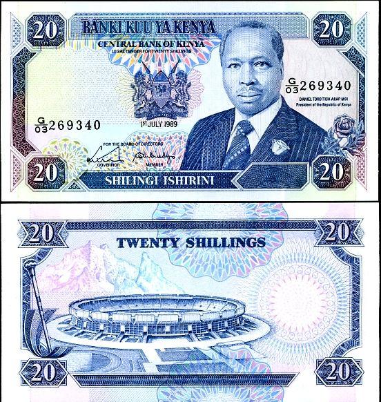 20 Šilingov Keňa 1989, Pick 25b