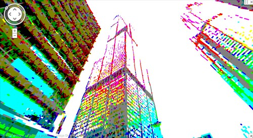 google maps 8bit streetview: Sears Tower
