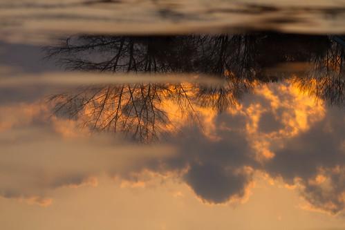 winter sunset lake reflection ice nature water clouds michigan explosion 2012 lakecharlevoix paulhitz natureycrap geomaped itwas75andtherewasstilliceonthelake