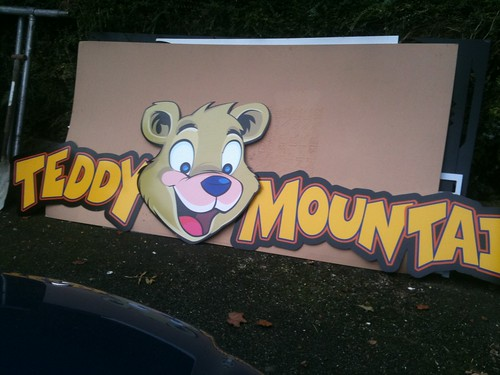 TEDDY MOUNTAIN SHOP SIGN, CNC CUT