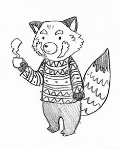Red Panda Doodle