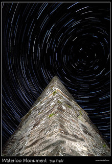 Waterloo Monument Star Trails