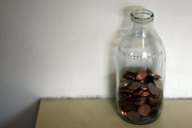 My milk bottle of change