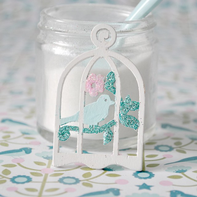 Glittering birdcages