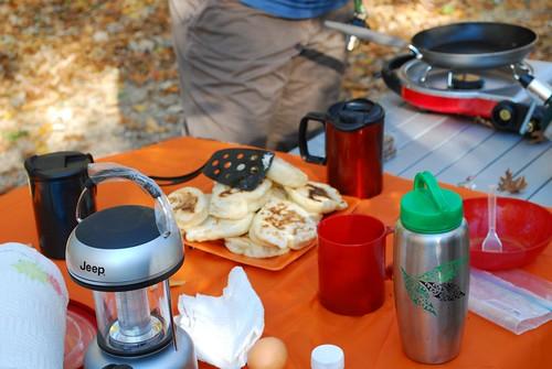 October Camping at Yellowstone Lake