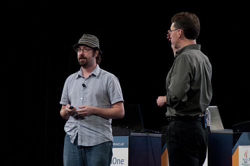 "Charles Nutter and Mark Reinhold, Technical Keynote ""Java SE"", JavaOne 2011 San Francisco"