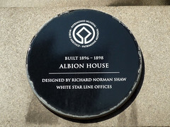 Photo of Albion House, Liverpool, Richard Norman Shaw, and Oceanic Navigation Company black plaque
