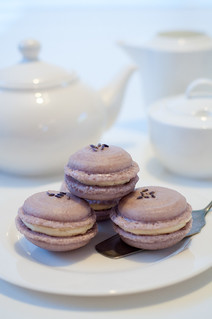 Lavender Macarons with Honey & Vanilla Buttercream