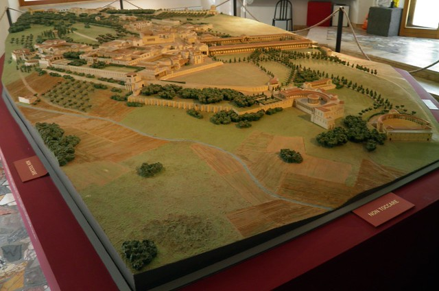 Model of Hadrian's Villa, Hadrian's Villa, Tivoli