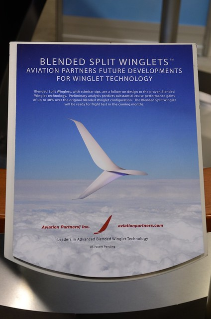 Aviation Partners Blended Split Scimitar-Tipped Winglet