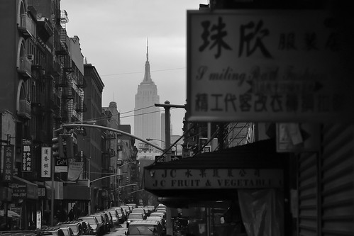 Empire State Building from China Town, NYC
