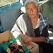 Doña Lencha con sus huajolotes - doña Lencha with her turkeys; Santiago Yucuyachi, Oaxaca, Mexico por Lon&Queta
