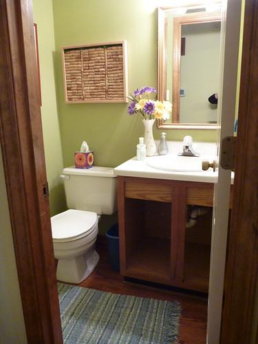 our half bath in October 2011