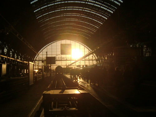 Sunset at Frankfurt Central Station