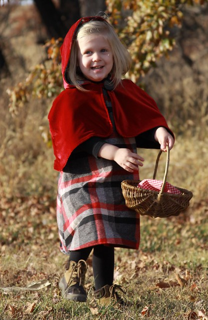 Handmade Little Red Riding Hood Dress and Cape