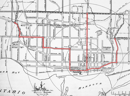 Jacobs and Davies Toronto Subway Plan 1910
