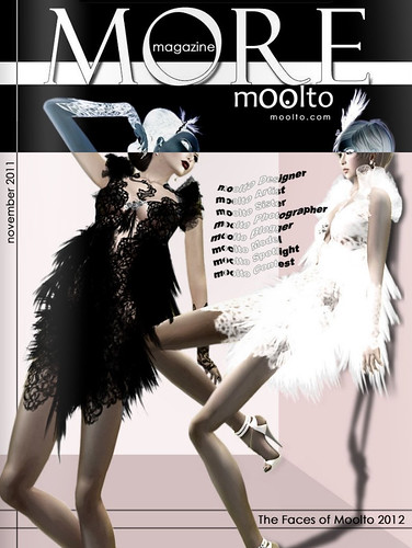 Moolto More Magazine Nov 2011 cover girl - babychampagne sass (left)+ Hatchy Mills (right)^^ by Babychampagne