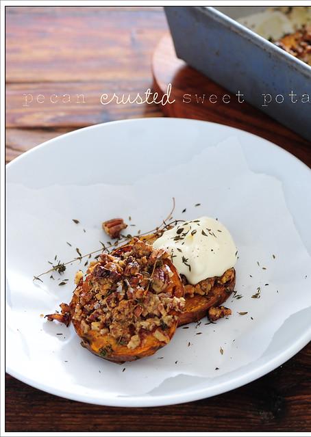 Pecan Crusted Sweet Potato Pound Cake