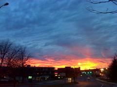 Impressionist sunset.