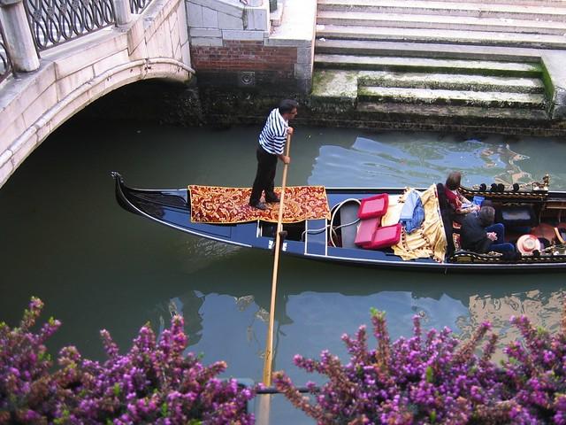 Venezia, gandola ride on Grand Canal
