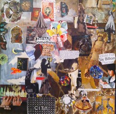 Mixed media collage by artist Claire Levine