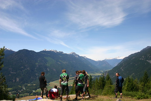 Lunch break at the Para-glide launch in Pemberton