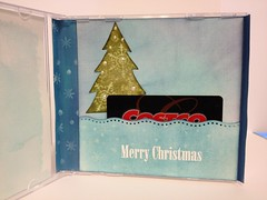 CD gift card holder inside