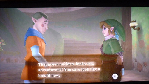 The Legend of Zelda: Skyward Sword Link gets his green tunic