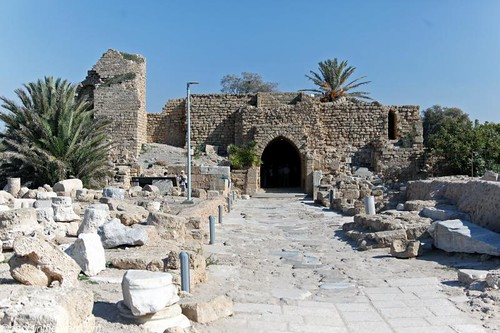 One of the entrances to Caesarea