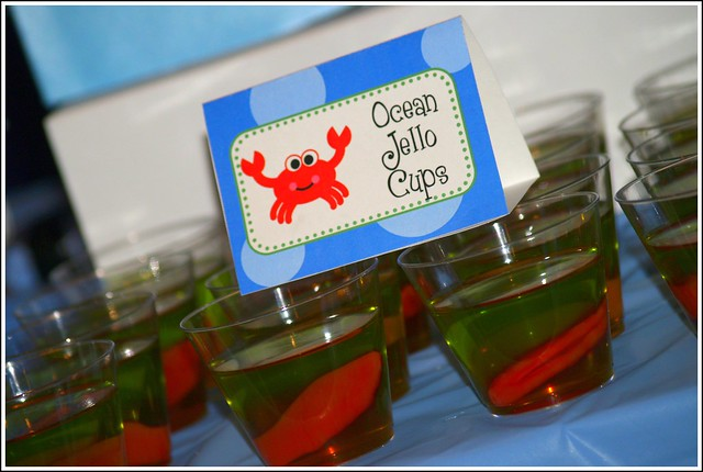 Ocean Jello Cups